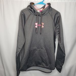 Under Armour gray pink camo hoodie